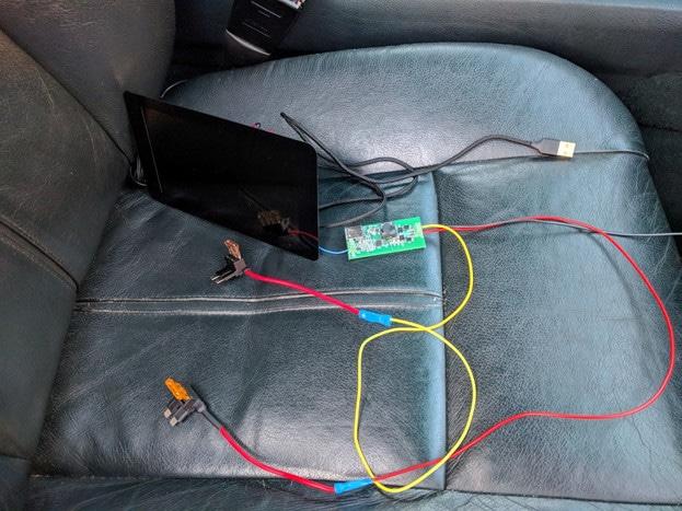 Assembling BWS CAR PS in the car
