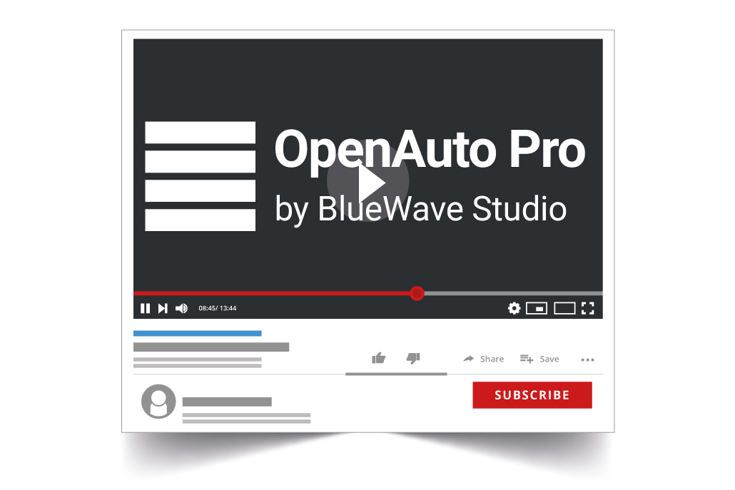 OpenAuto Pro possibilities at our YouTube channel