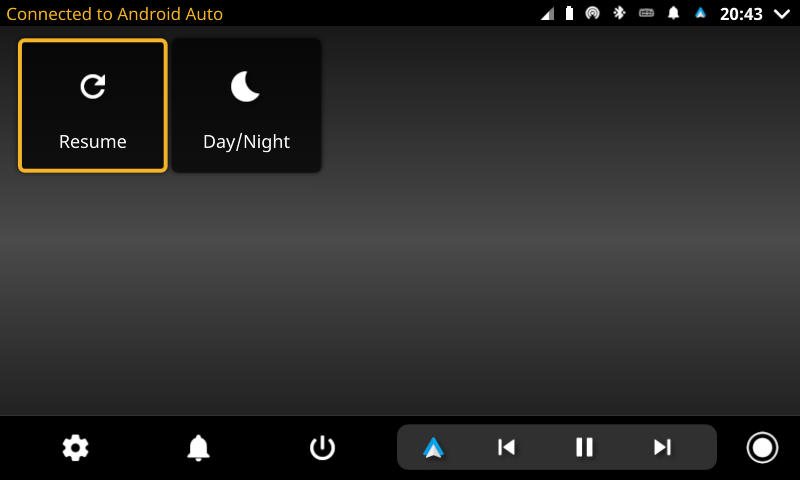 openauto android auto connected