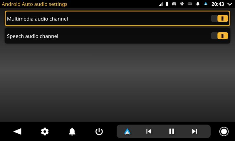 openauto android auto audiosettings