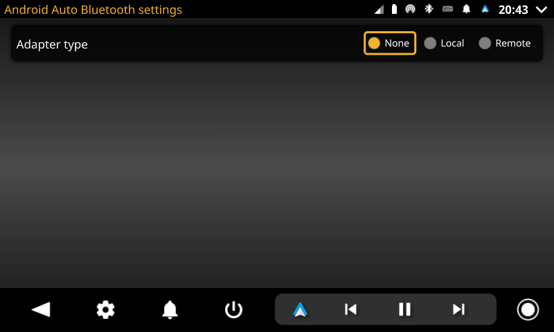 openauto android auto bluetooth settings