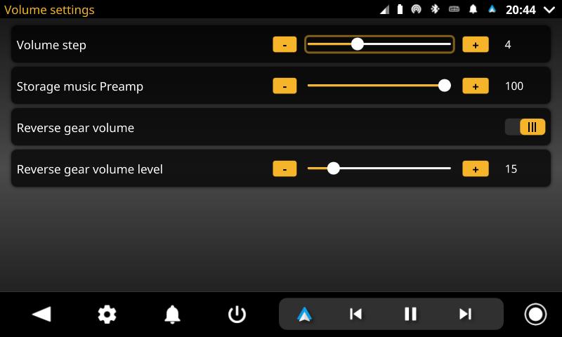 openauto volume settings