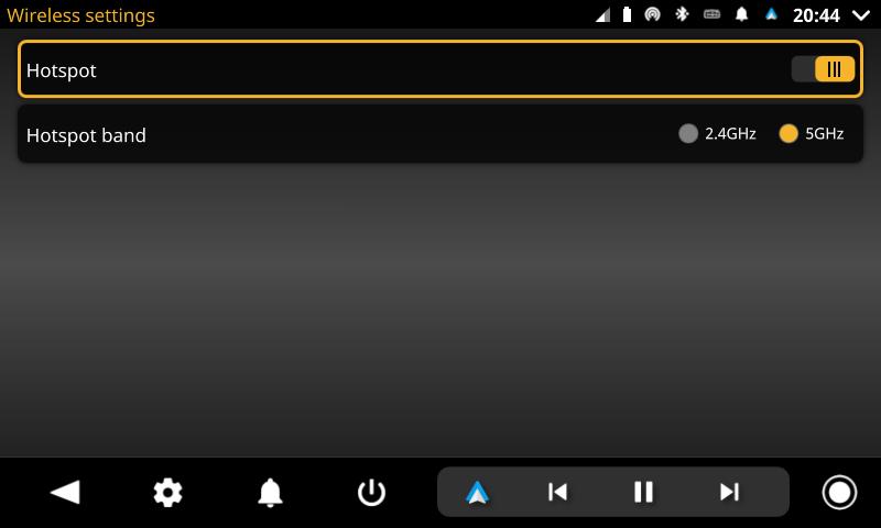 openauto wireless settings