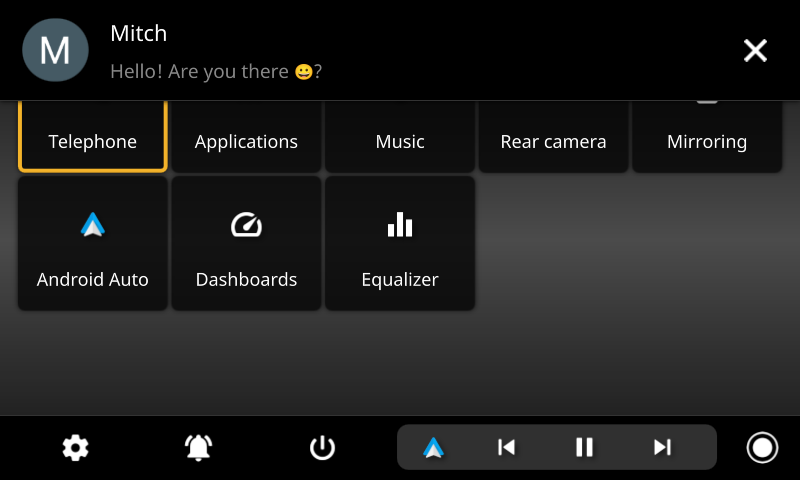 openauto connected pro notification