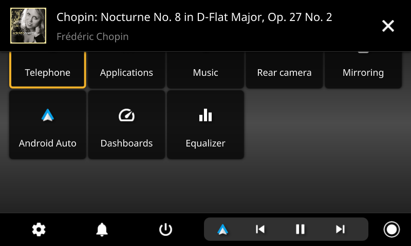 openauto music notification