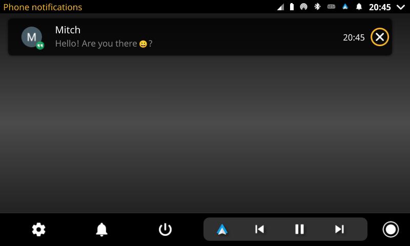 openauto phone notification