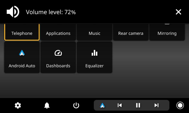 openauto volume notification
