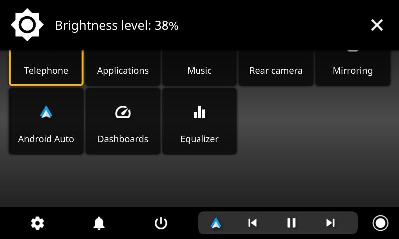 openauto brightness notification