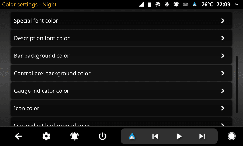 openauto color settings