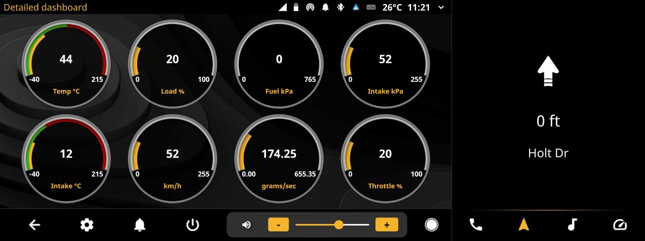 openauto widescreen music obd detailed