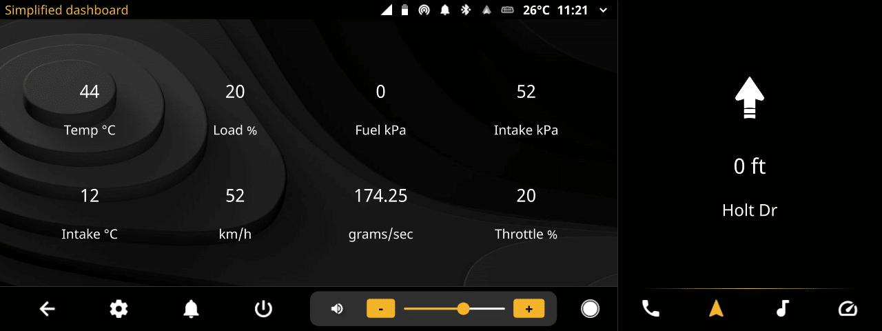 openauto widescreen music obd simple